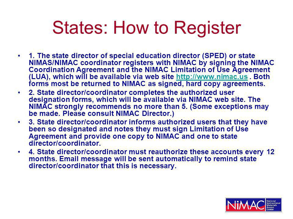 States: How to Register 1.
