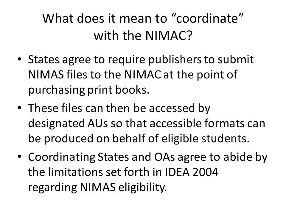 How Do I Become a NIMAC State Coordinator.