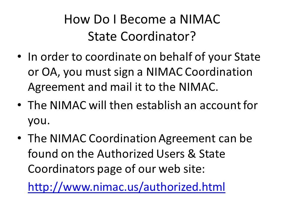 State Coordinator Home From the home page of your account, you will see three tabs at the top of the screen: – State Home – Manage Authorized Users – Manage Your Account