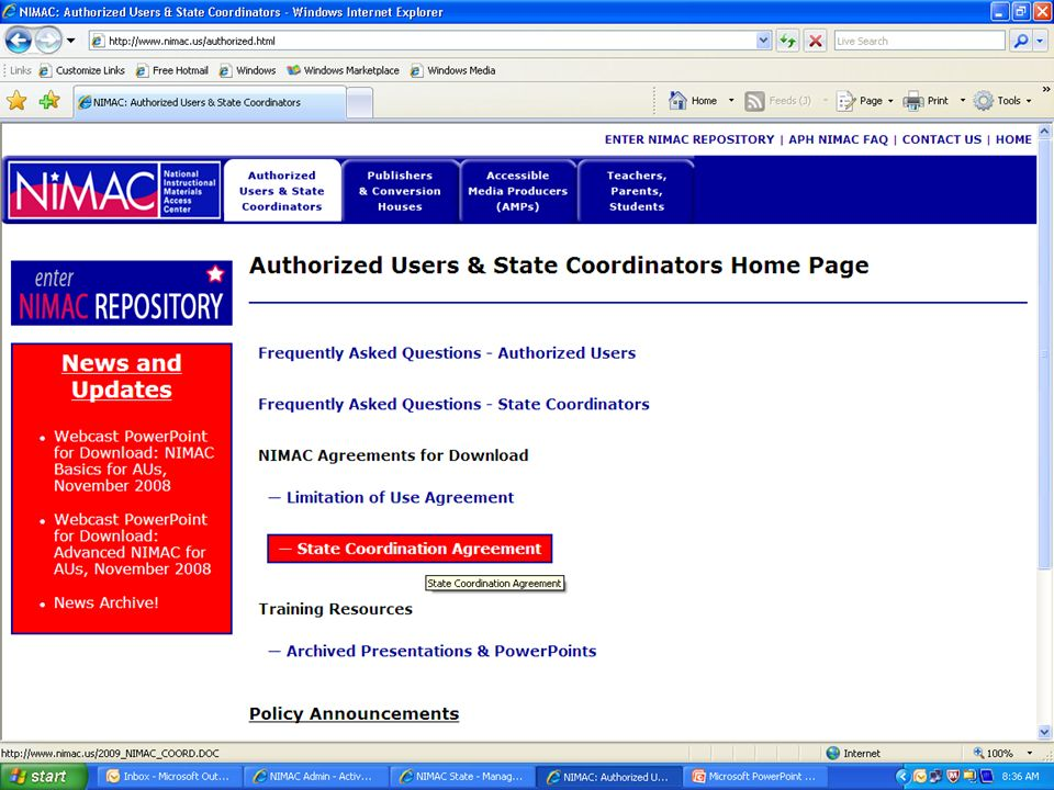 New AU registration web form