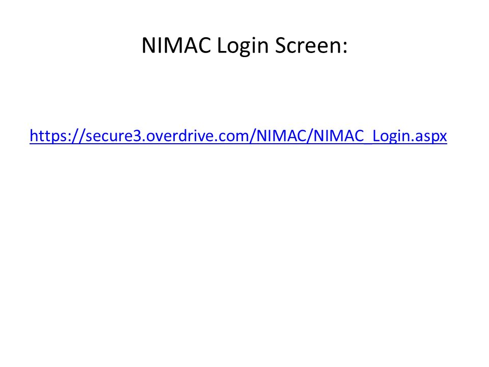 Technical Contacts If we are aware of a better NIMAS contact than the administrative account holder, we can direct you to that person.
