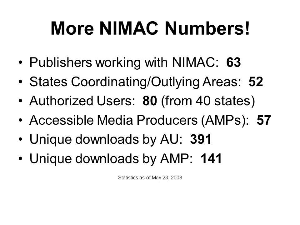 More NIMAC Numbers.