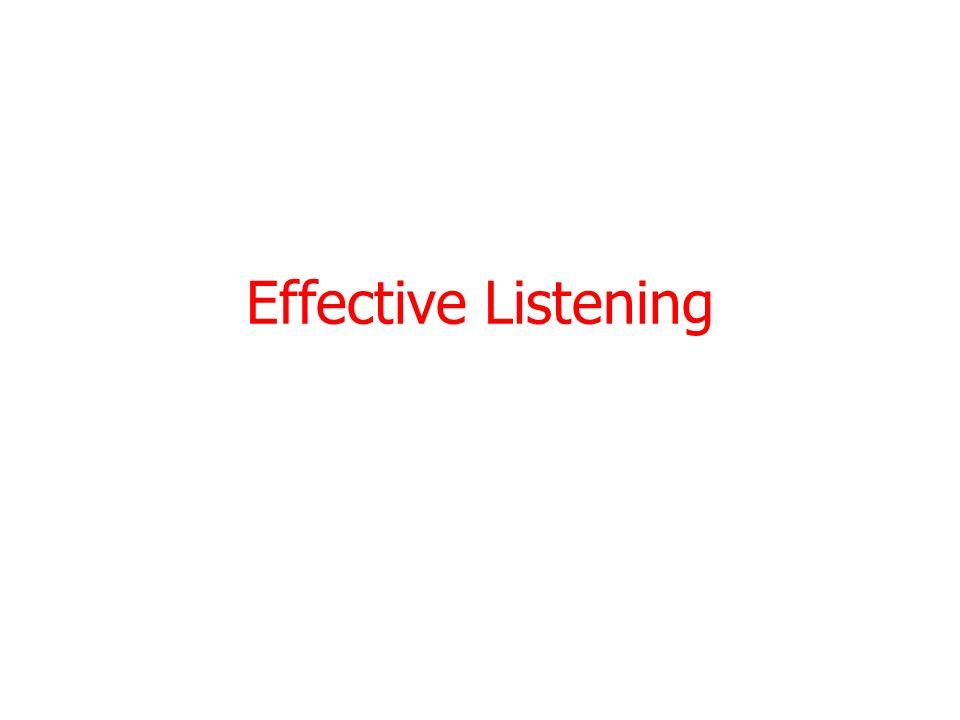 Effective Listening 2/26/20141