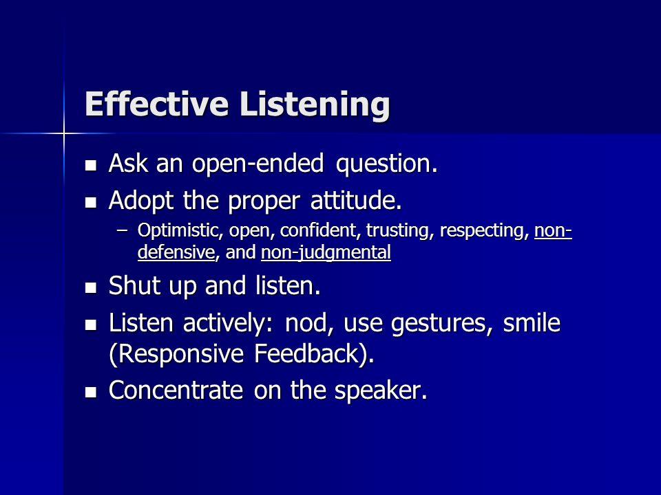 Effective Communication Effective Listening is the foundation on which effective communication rests. Effective Listening is the foundation on which e