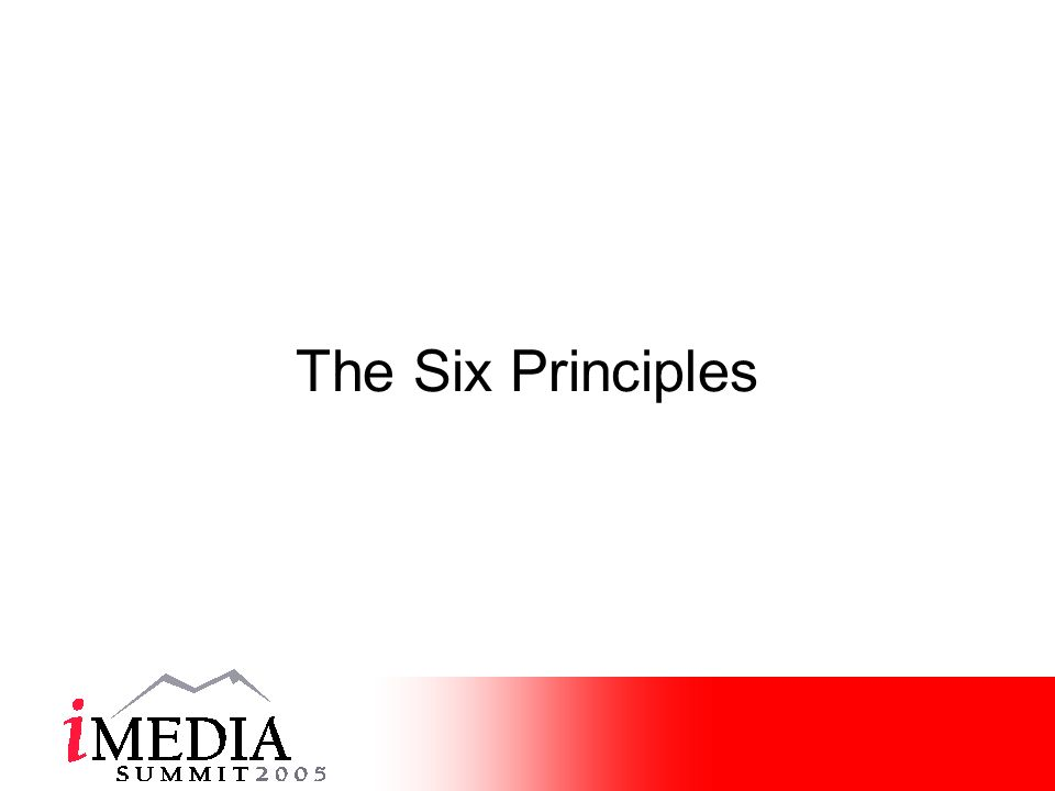 The Six Principles