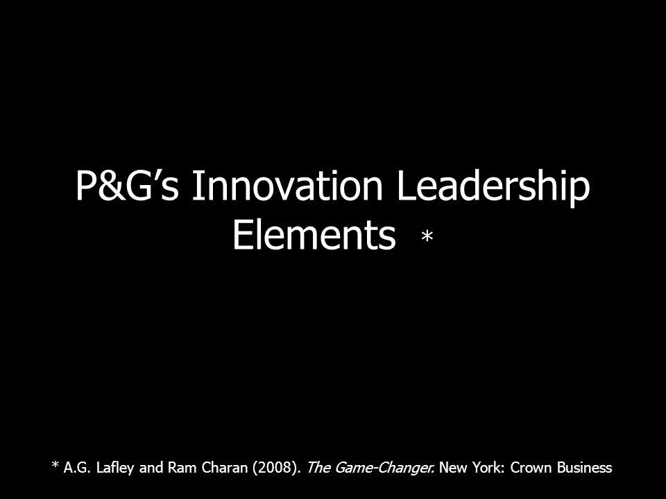 P&Gs Innovation Leadership Elements * * A.G. Lafley and Ram Charan (2008).