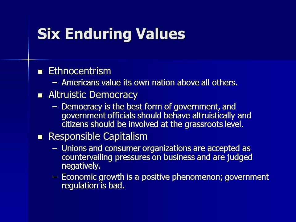 Six Enduring Values Small-town Pastoralism Small-town Pastoralism –The rural and anti-industrial value of Jefferson are found in the news.