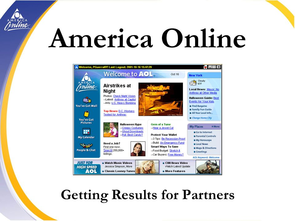 America Online Getting Results for Partners