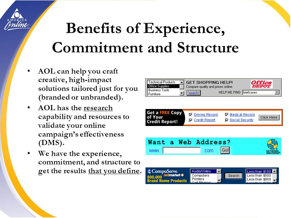 Structure Structure - AOL is structured to understand your business and help you serve your customers better. IM Category Sales Account Services AIS V