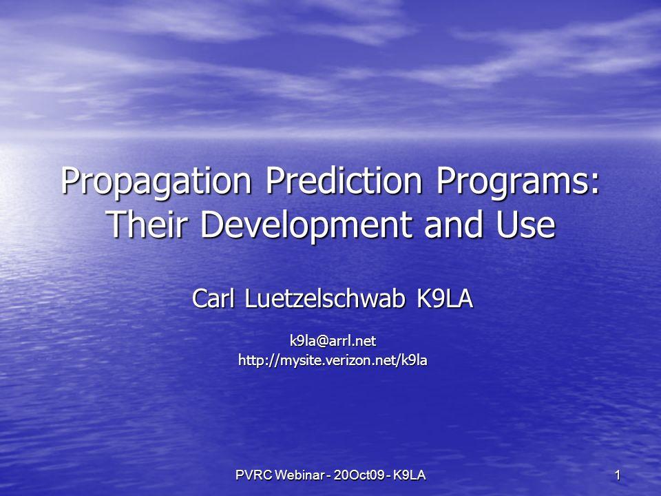 PVRC Webinar - 20Oct09 - K9LA22 Sample Prediction