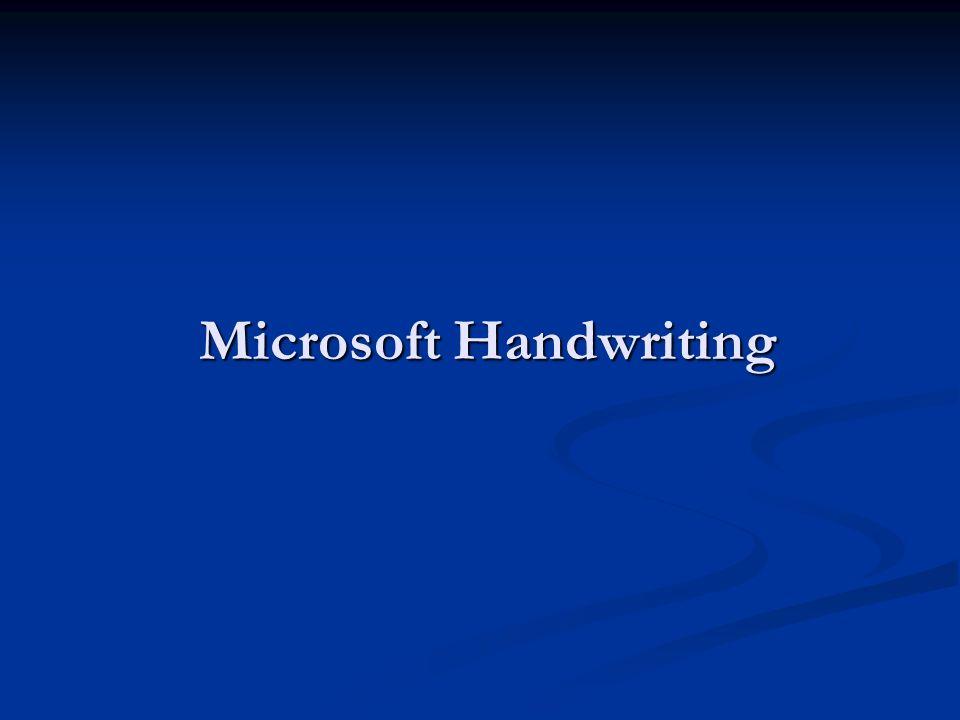 Microsoft Handwriting