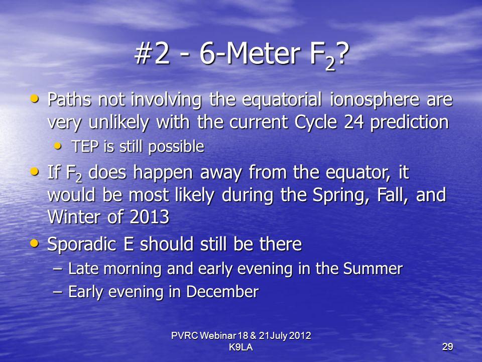 PVRC Webinar 18 & 21July 2012 K9LA #2 - 6-Meter F 2 .