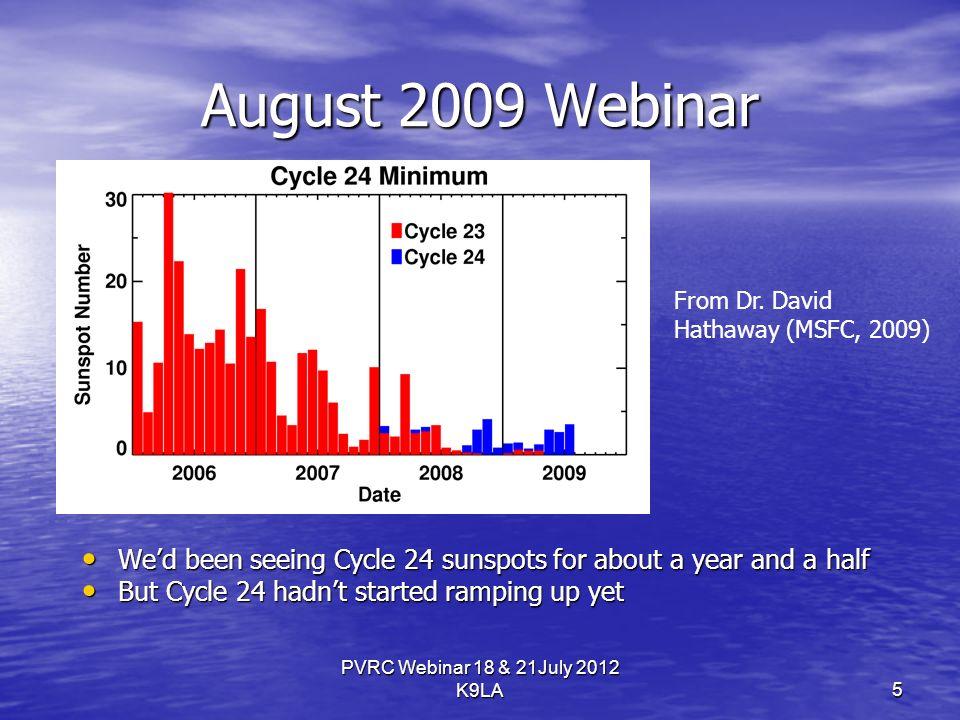 August 2009 Webinar PVRC Webinar 18 & 21July 2012 K9LA From Dr.