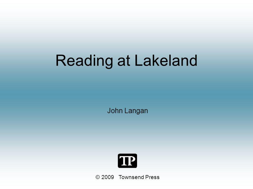 Reading at Lakeland John Langan © 2009 Townsend Press