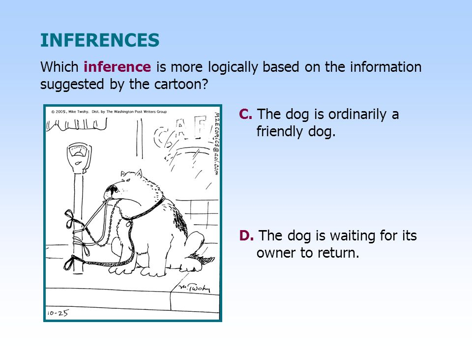 C.The dog is ordinarily a friendly dog. D. The dog is waiting for its owner to return.