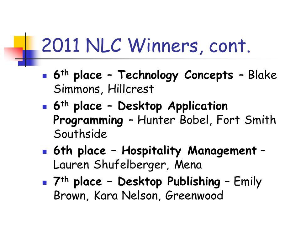 2011 NLC Winners, cont.