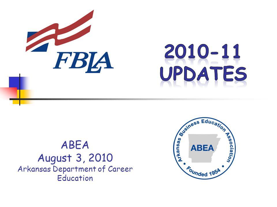 ABEA August 3, 2010 Arkansas Department of Career Education
