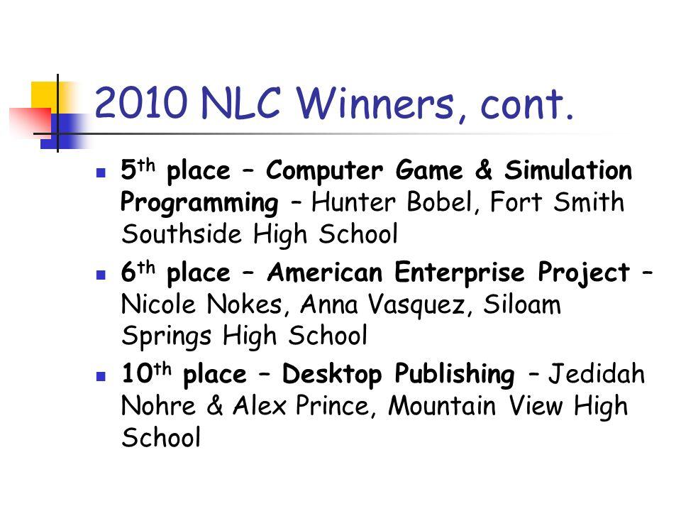 2010 NLC Winners, cont.