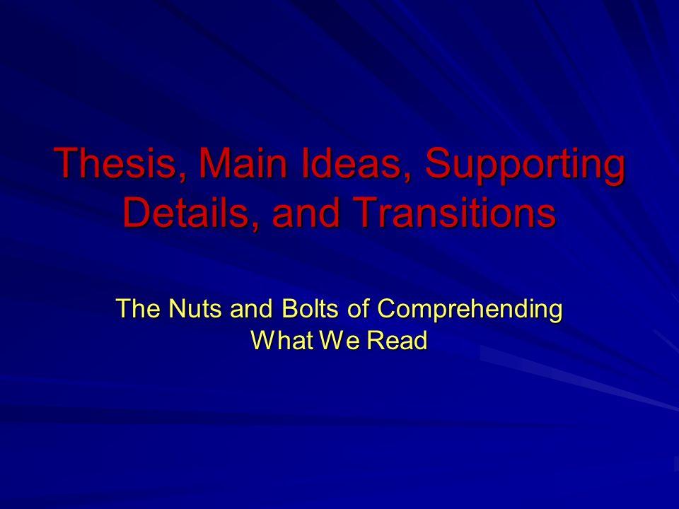 Main thesis
