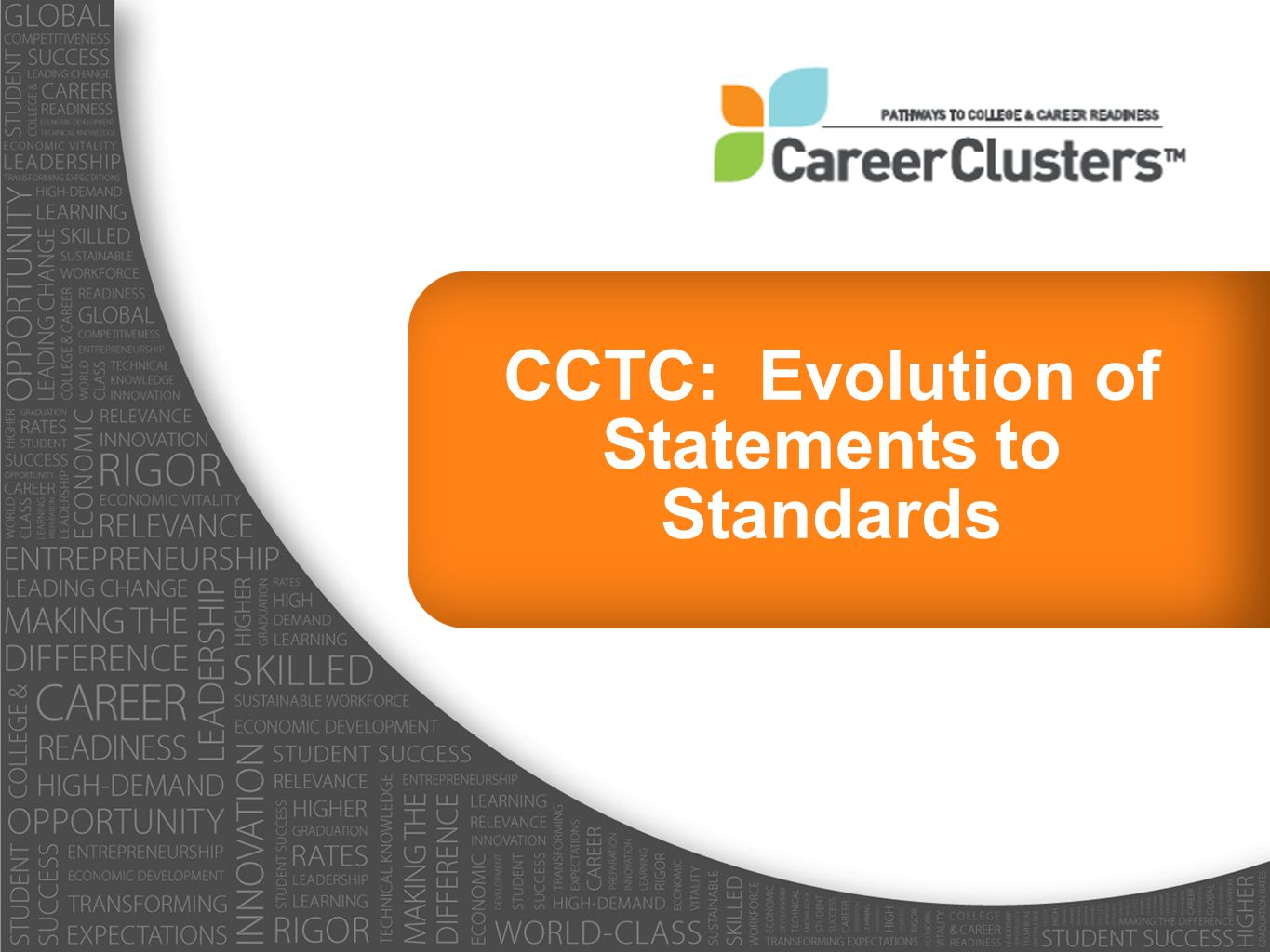 CCTC: Evolution of Statements to Standards