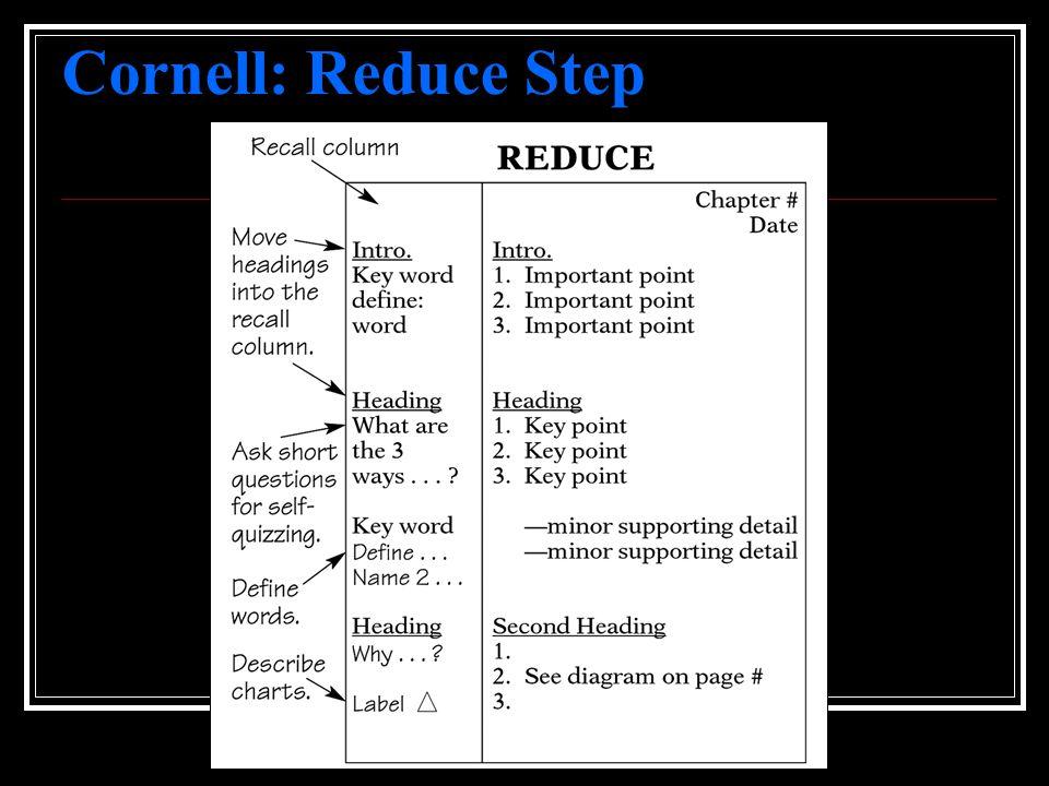 Cornell: Reduce Step
