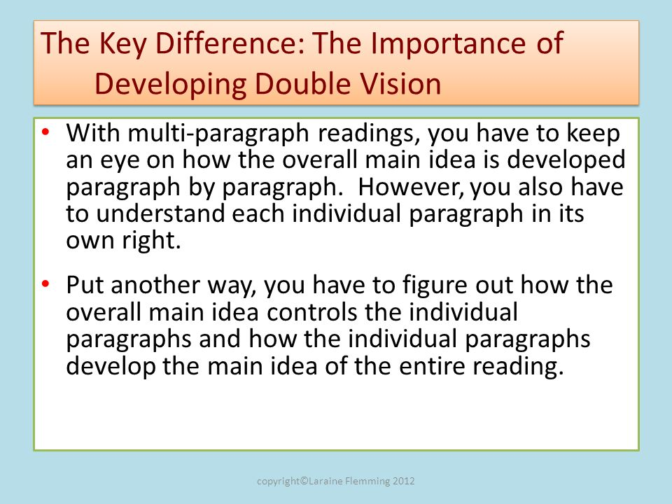 What the Readers Double Vision Looks Like in a Diagram Good instructors have three key characteristics.