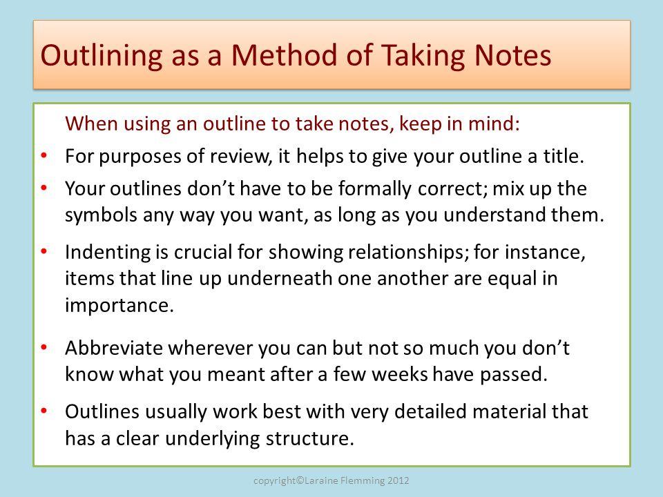 Final Wrap: Understanding, Outlining and Summarizing Longer Readings 4.