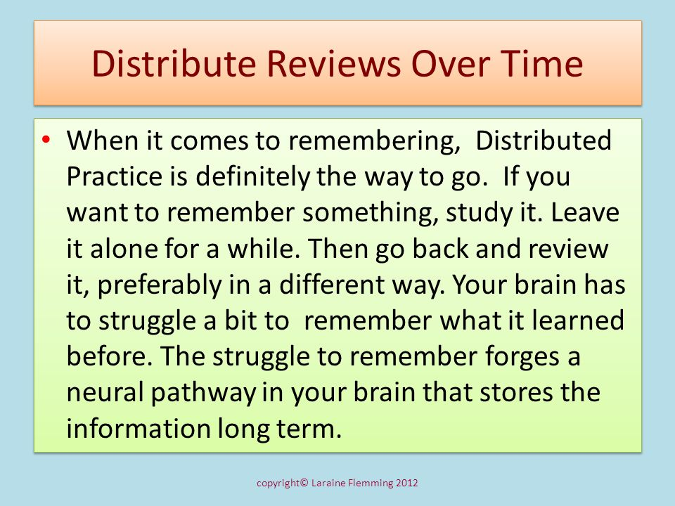 Methods of Review 1.Look at all the major headings and try to recall the general point introduced.