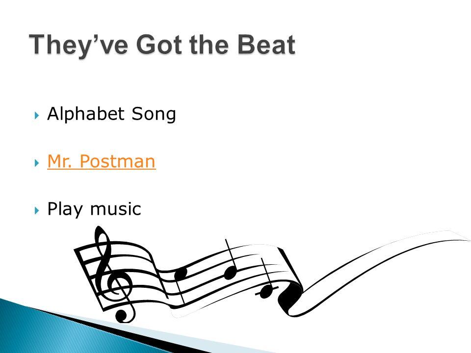 Alphabet Song Mr. Postman Play music