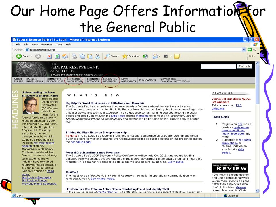 Our Home Page Offers Information for the General Public