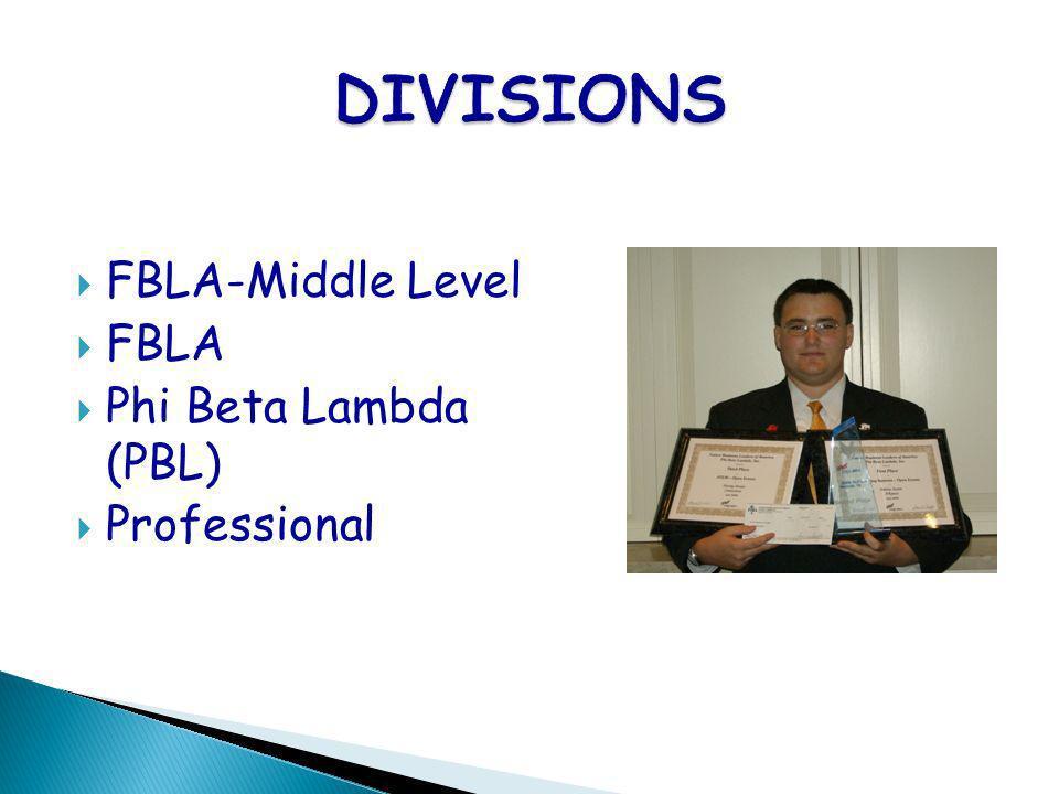 FBLA-Middle Level FBLA Phi Beta Lambda (PBL) Professional
