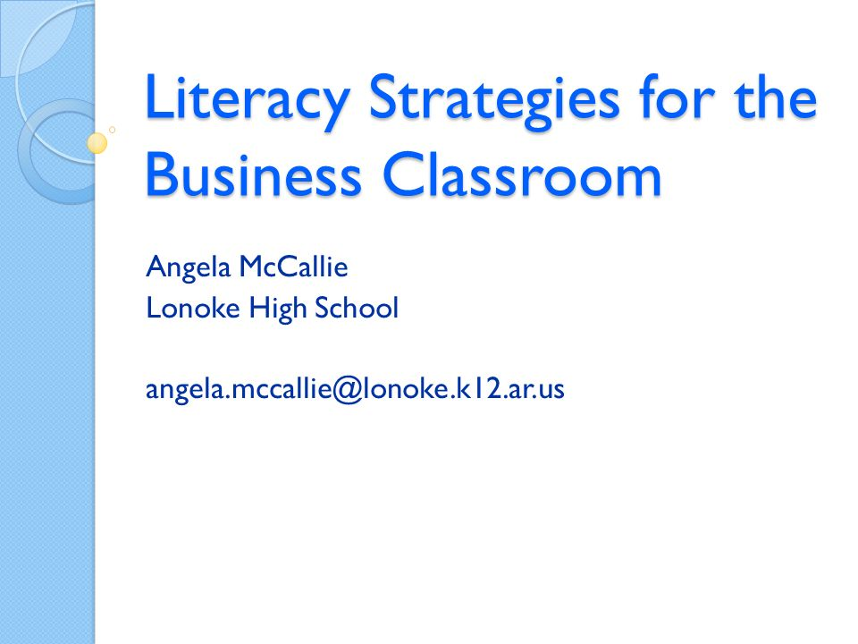 Literacy Strategies: Why use? Research Based Relevant Rigorous Reduce (Chunk)