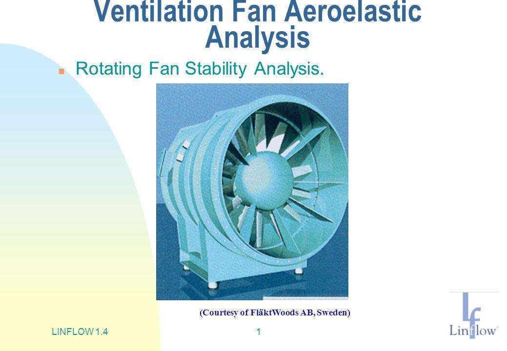 LINFLOW 1.41 Ventilation Fan Aeroelastic Analysis n Rotating Fan Stability Analysis. (Courtesy of FläktWoods AB, Sweden)