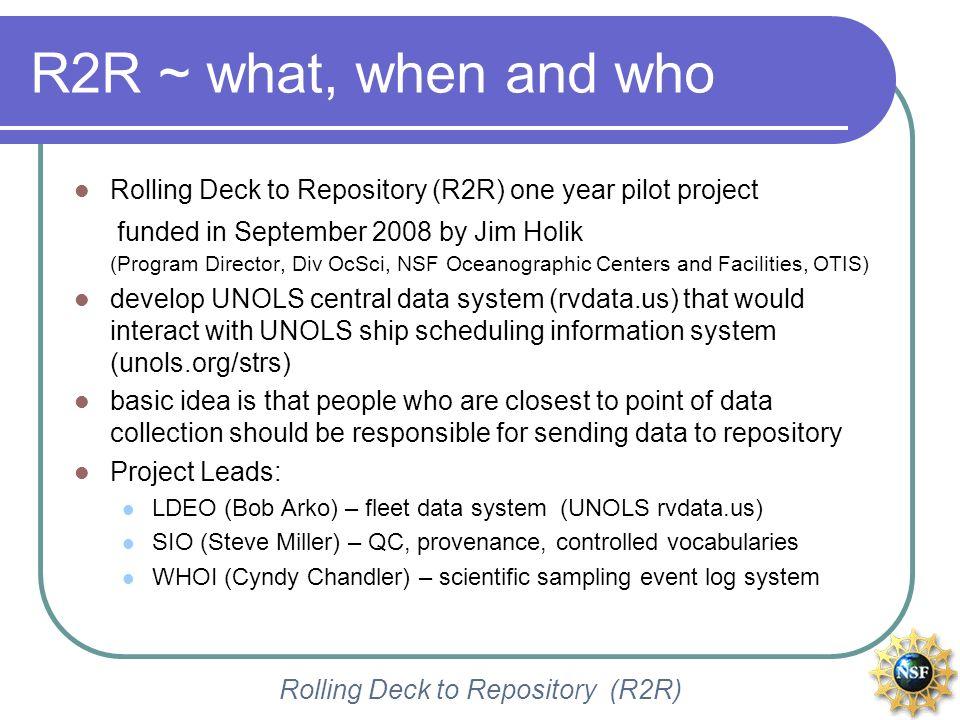 Rolling Deck to Repository (R2R) a sampling event matrix VERTIGO project KM0414 ALOHA cruise sampling event matrix R/V Kilo Moana (University of Hawaii Marine Center)