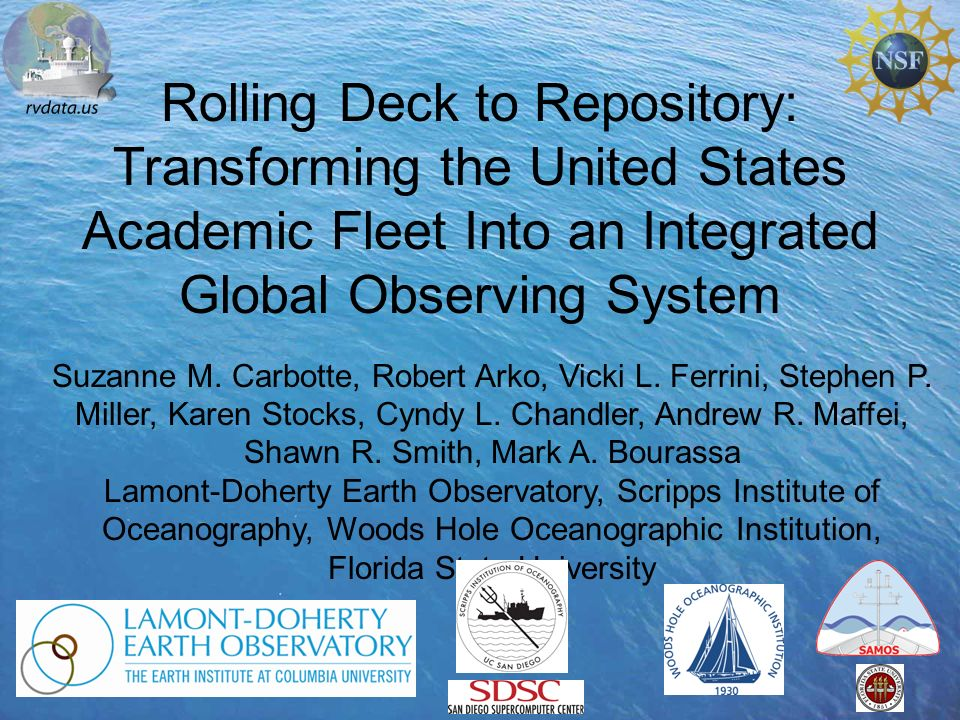 Rolling Deck to Repository: Transforming the United States Academic Fleet Into an Integrated Global Observing System Suzanne M.