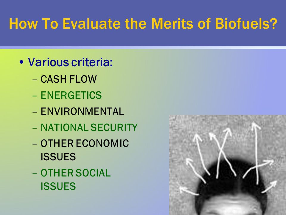 How To Evaluate the Merits of Biofuels.