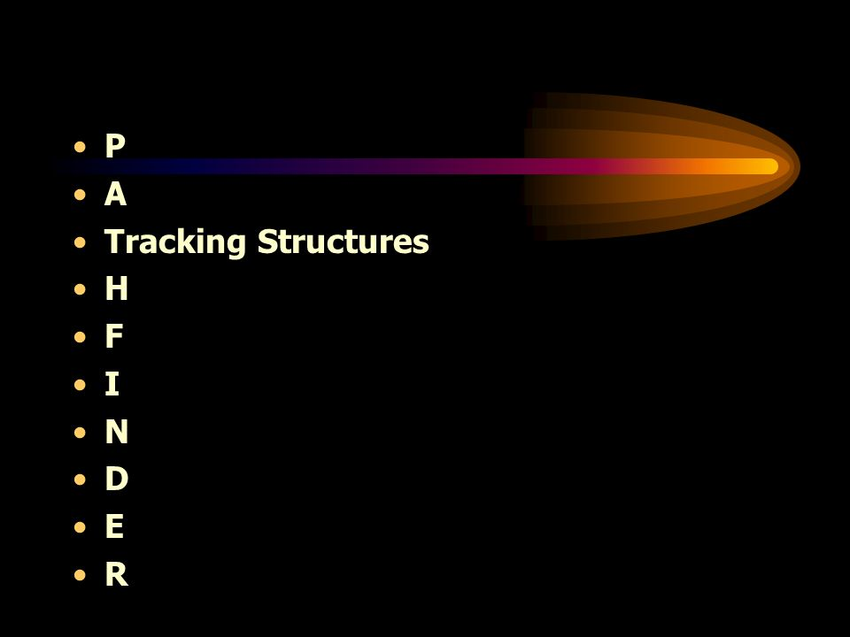P A Tracking Structures H F I N D E R