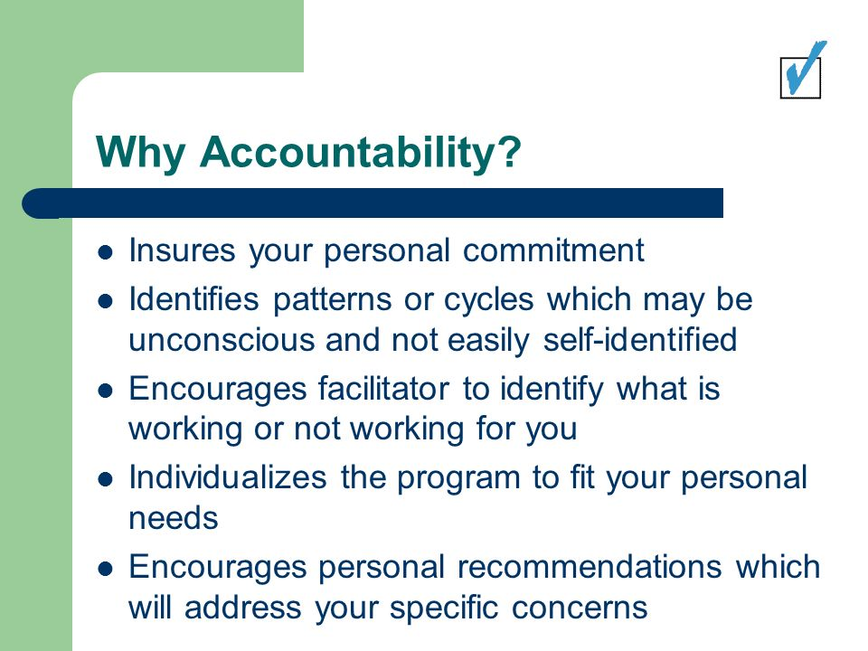 Why Accountability.