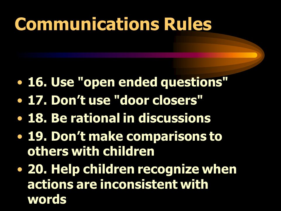 Communications Rules 16. Use