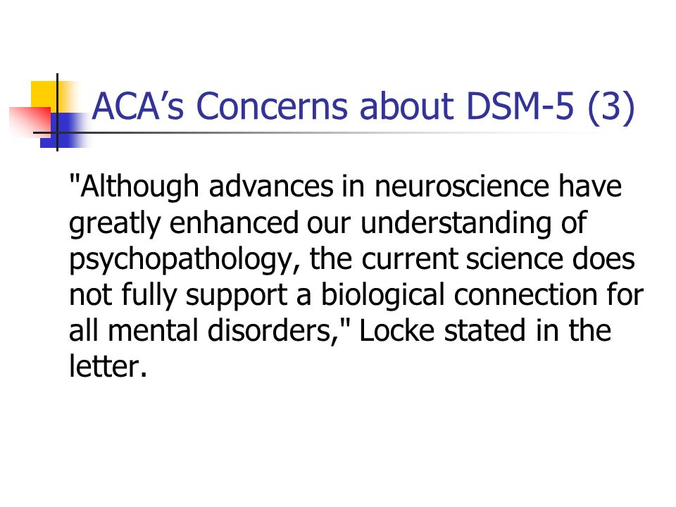 ACAs Concerns about DSM-5 (3)