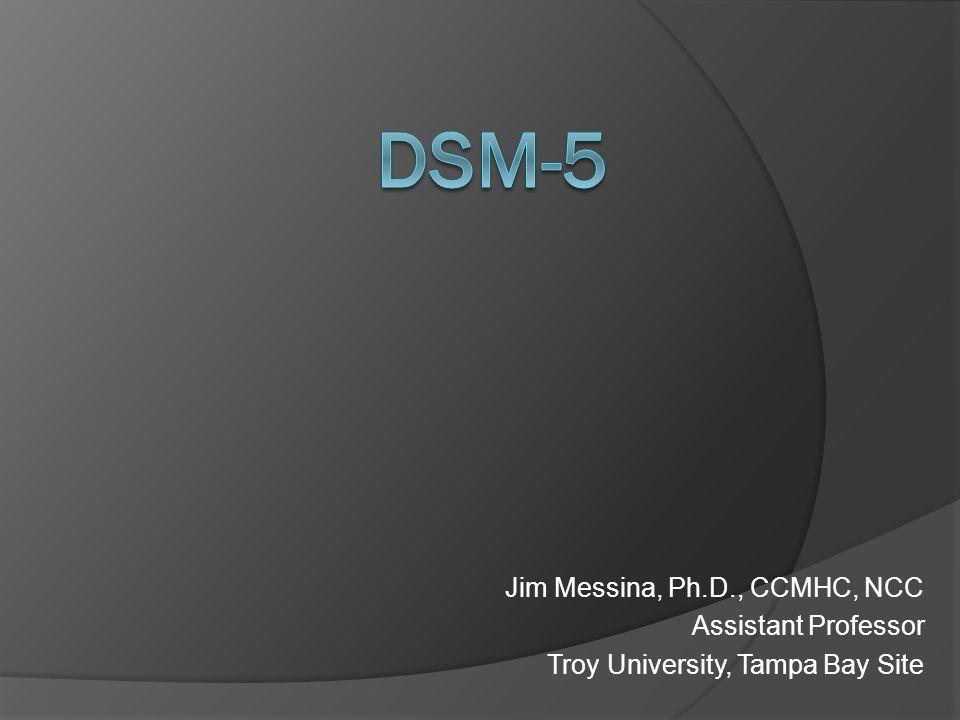 Jim Messina, Ph.D., CCMHC, NCC Assistant Professor Troy University, Tampa Bay Site