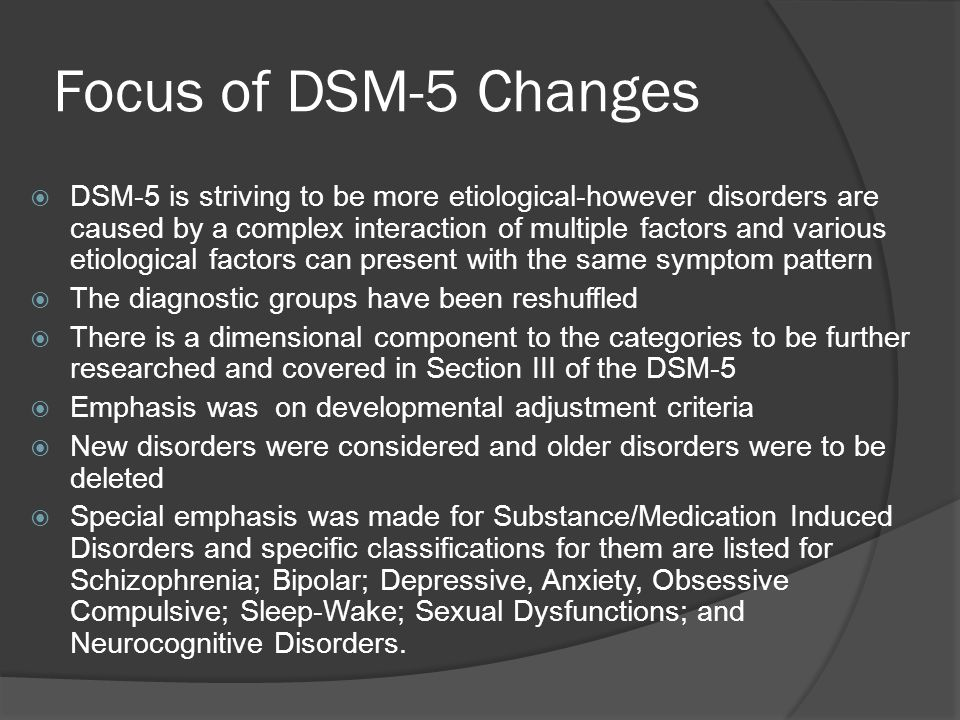It is important to remember The Diagnosis given a client is tentative dependent on gathering more data in future anticipated treatment Diagnoses can ALWAYS be changed to address changes with the individuals presentation & functioning