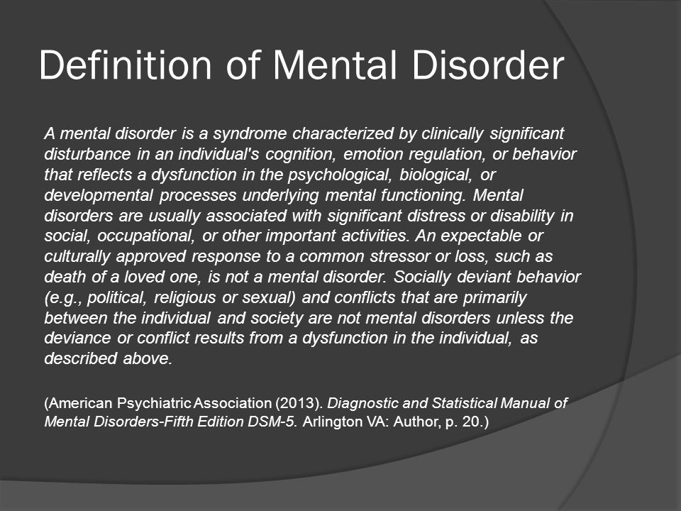 Why identify a mental disorder diagnosis.