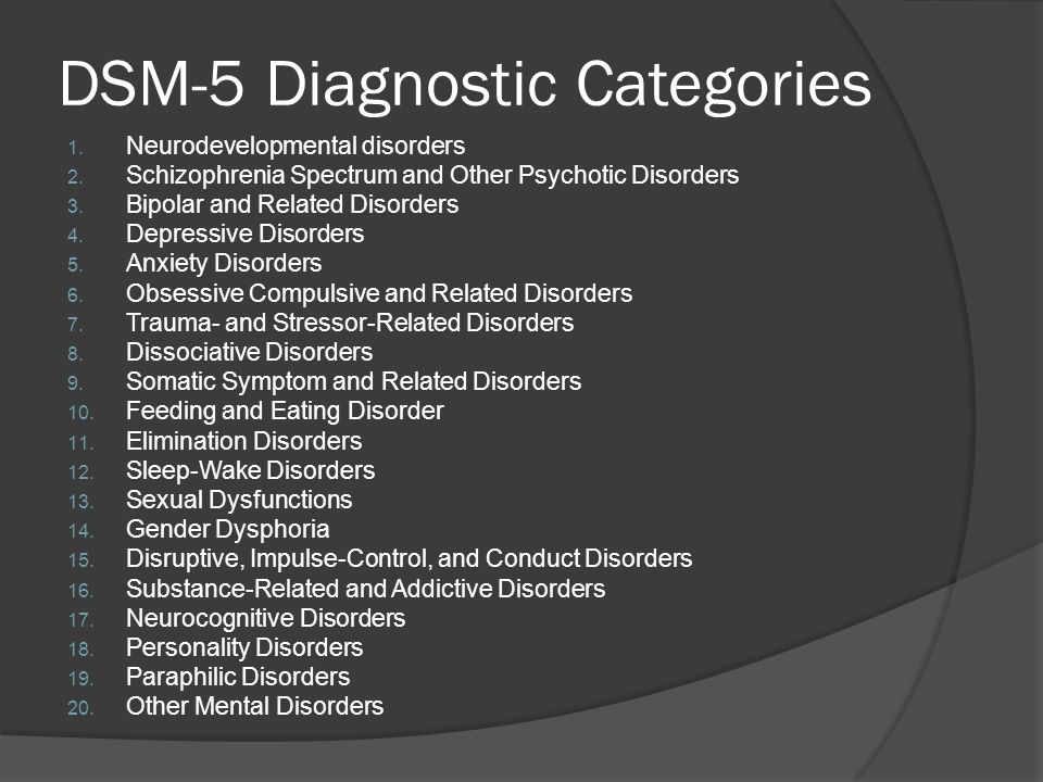 Obvious Changes in DSM-5 (1) The DSM-5 will discontinue the Multiaxial Diagnosis, No more Axis I,II, III, IV & V-which means that Personality Disorders will now appear as diagnostic categories and there will be no more GAF score or listing of psychosocial stressor or contributing medical conditions The Multi-axial model will be replaced by Dimensional component to diagnostic categories