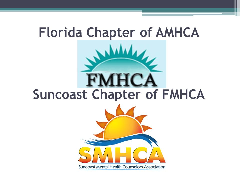 Suncoast Chapter of FMHCA Florida Chapter of AMHCA