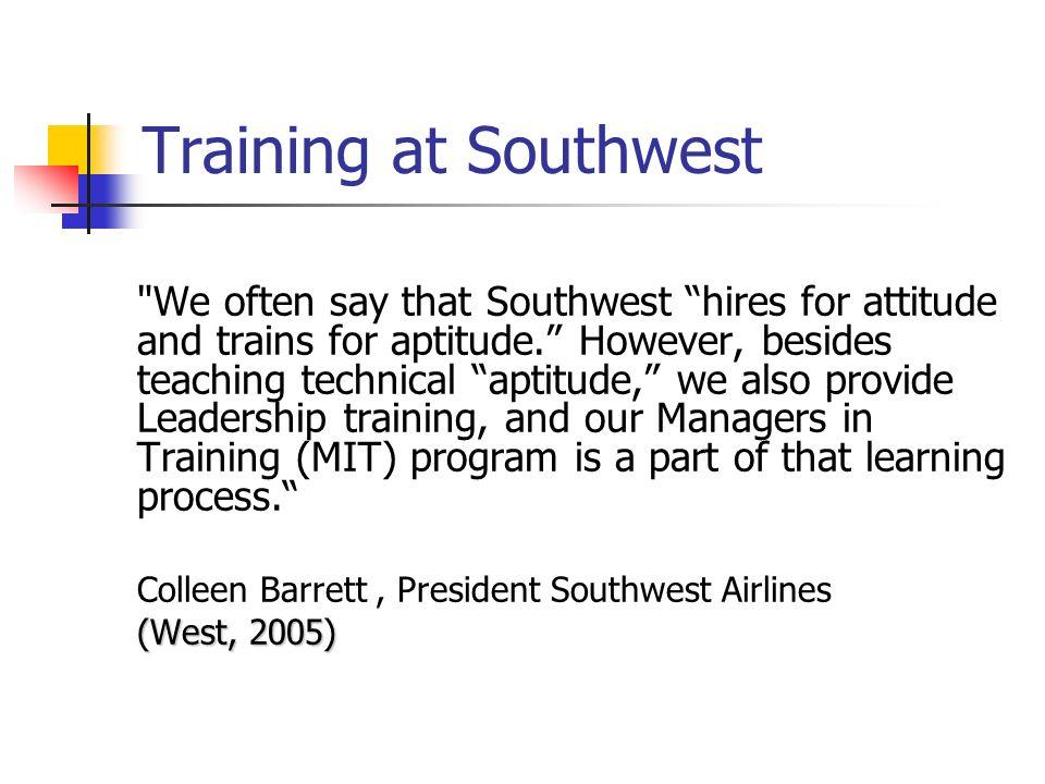Training at Southwest