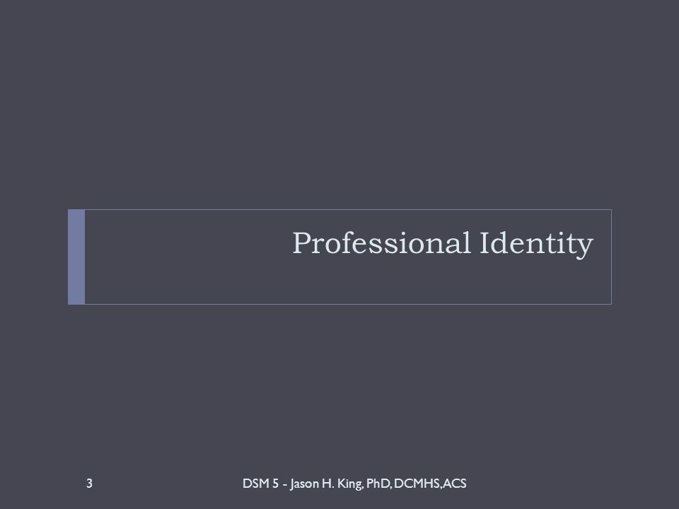 What is Professional Identity.