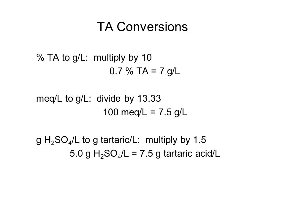 Why are pH and TA important.