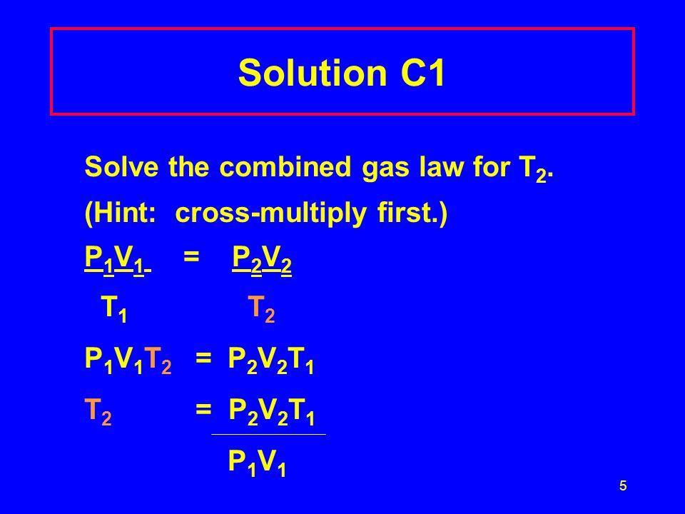 26 Solution C6 A.