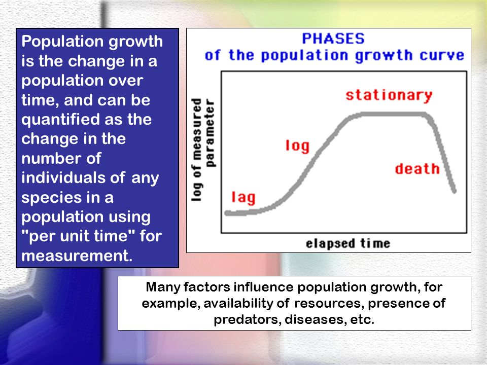 Population Density Population density may be defined as simply the number of individual organisms per unit area.